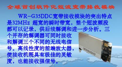 WR-G35DDC软件化宽带短波接收模块