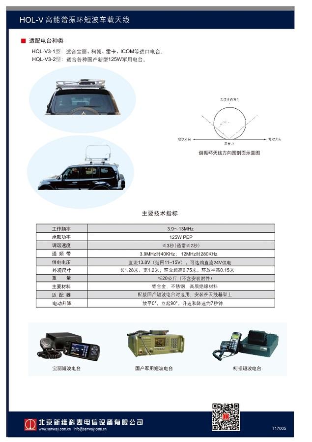 HQL-V高能谐振环车载天线